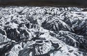 <p>孟煌,<em>喜马拉雅-2</em>,2013,布面木炭,180 x 280 cm</p>