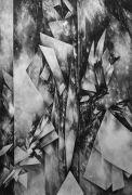 <p>Julia Steiner, <em>Space Fiction III</em>, 2013, gouache on paper, 222 x 150 cm</p>