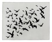 <p>托比亚斯&middot;卡斯帕,<em>Raven</em>,2019,羊毛、棉,140 x 180 cm,2 版 + 1 AP</p>