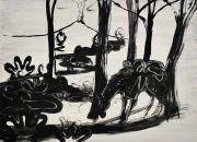 <p>Rebekka Steiger, <em>untitled</em>, 2018, oil, tempera and gouache on canvas, 54 x 75 cm</p>