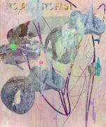 <p>Wang Shang, <em>C Rock 105</em>, 2018, acrylic, screenprint, canvas, 180 x 150 cm</p>