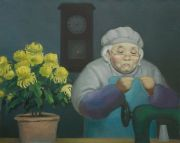 "<p>Wang Xingwei, <em isrender=""true"">untitled (old lady No. 1)</em>, 2010, oil on canvas, 80 x 100 cm</p>"