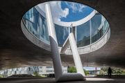 <p>Exhibition view, <em>Up #4</em>, Rolex Learning Center, EPFL, Lausanne, June 16, 2020 - May 31, 2021</p>