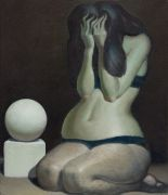 "<p isrender=""true"">Wang Xingwei, <em isrender=""true"">Female Body and Geometric Solid</em>, 2011, oil on canvas, 70 x 60 cm</p>"