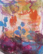 <p>Rebekka Steiger, <em>hanging in midair (above sea)</em>, 2018, oil and tempera on canvas, 100 x 80 cm</p>