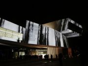 <p>Michel Comte, <em>The Fall</em>, 2017, projection mapping for the exhibition <em>LIGHT I at&nbsp;</em>MAXXI Museo, Rome, Italy, 2017</p>
