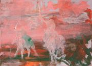 <p>Rebekka Steiger, <em>Riders on the Storm</em>, 2017, oil and tempera on canvas, 170 x 240 cm</p>