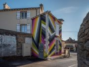 <p>Lang/Baumann, <em>Beautiful House #</em>2, 2017, wall painting, 16.5 x 8 m, permanent work, installation view, Le Confort Moderne, Poitiers, France</p>