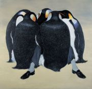 "<p isrender=""true"">Wang Xingwei, untitled (penguin), 2003, oil on canvas, 170 x 176 cm</p>"