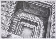 "<p>Meng Huang,&nbsp;<em isrender=""true"">Staircase 4</em>,&nbsp;2007, charcoal on paper, 77 x 109 cm</p>"