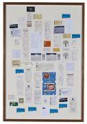 <p>Cheng Ran, <em>Letters</em>, 2013, inscribed detritus paper, wooden frame, 9x 124 x 84 cm (framed), detail</p>