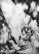 <p>Julia Steiner,<em> interior (folded light</em>), 2013, gouache on paper, 210 x 150 cm</p>