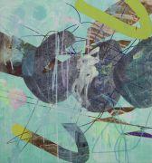 <p>Wang Shang, <em>C Rock 9</em>, 2017, acrylic, screenprint, canvas, 150 x 145 cm</p>