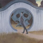 "<p>Wang Xingwei, <em isrender=""true"">untitled (moondoor)</em>, 2007, oil on canvas, 200 x 200 cm</p>"