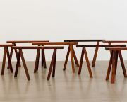 <p>Not Vital, <em>Walking Benches&nbsp;</em>(detail),&nbsp;2011-2012, wood, each 50 x 88 x 25 cm</p>