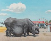 "<p>Wang Xingwei, <em isrender=""true"">Harvest Season</em>, 2017, oil on canvas, 160 x 200 cm</p>"