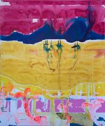 <p>高嫣(Rebekka Steiger),<em>山花 (shanhua)</em>,2020,布面水墨蛋彩油画,240 x 200 cm</p>