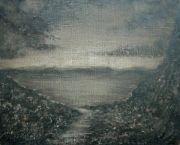 "<p isrender=""true"">Meng Huang,&nbsp;<em isrender=""true"">Distant Mountain No. 2</em>,&nbsp;2008oil on canvas,38 x 46 cm</p>"