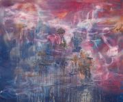 <p>Rebekka Steiger, <em>on a wayward current (in the palace of natural arts)</em>, 2019, oil and tempera on canvas, 200 x 240 cm</p>