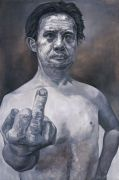 "<p isrender=""true"">孟煌,<em isrender=""true"">国际脸一</em>,2007,布面油画,279 x 184 cm</p>"