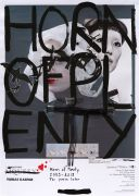 <p>Tobias Kaspar, <em>Horn of Plenty (Raven)</em>, 2019, unique, acrylic paint, ink, inkjet print, magazine cut outs, silicon, tape on paper, 59 x 42 cm; 63 x 46 cm (framed)</p>