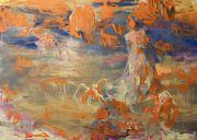 <p>Rebekka Steiger, <em>lady bird (wild is the wind)</em>, 2019, oil and tempera on canvas, 170 x 240 cm</p>