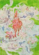 <p>Rebekka Steiger, <em>easter (mingling with scorpions)</em>, 2018, oil and tempera on canvas, 240 x 170 cm</p>
