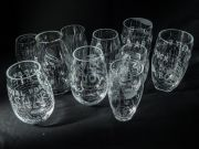 <p>Anatoly Shuravlev, <em>untitled, no. 1-10</em>, 2016, glass, hand-engraved, variable dimensions</p>