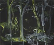 <p>Rebekka Steiger, <em>night shift</em>, 2018, oil and tempera on canvas, 54 x 65 cm</p>