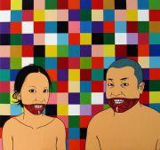 """<p isrender=""""true"""">Chen Fei, <em isrender=""""true"""">The Valentines</em>, 2010, acrylic on linen, 64 x 69 cm</p>"""