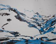 <p>Rebekka Steiger, <em>blue streak</em>, 2020, ink on canvas, 190 x 240 cm</p>