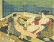 <p>托比亚斯&middot;雷贝格,<em>Utagawa Kunisada Shiko no nagame 1829</em>,2015,中密度纤维板,亚克力漆,合成物,U盘/数码印刷, 350 x 450 cm</p>