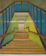 <p>孟煌,<em>空间 2</em>,布面油画,50 x 40 cm</p>