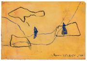 <p>Rebekka Steiger, <em>untitled</em>, 2019, tempera and pastel on paper, 27.5 x 39 cm</p>