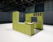 <p>Tobias Rehberger, <em>Performance of two lonely objects that have a lot in common</em>, 2014 /&nbsp;2017, mixed media, kitchen 190 x 260 x 240 cm, lamp, 49 x 56 x 56 cm, platform 30 x 1000 x 750 cm</p>
