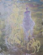 <p>Rebekka Steiger, <em>skorpione im schnee (battre l&rsquo;eau)</em>, 2019, oil and tempera on canvas, 240 x 190 cm</p>