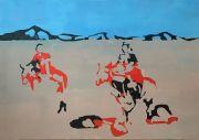 <p>Rebekka Steiger, cut corners, 2021, tempera and oil on canvas, 170 x 240 cm</p>