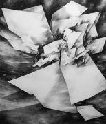 <p>Julia Steiner, <em>Space Fiction IV</em>, 2013, gouache on paper, 240 x 204 cm</p>