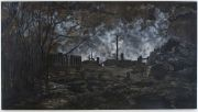 "<p>Meng Huang,<em isrender=""true"">&nbsp;Bats</em>,&nbsp;2002, oil on canvas, 220 x 400 cm</p>"