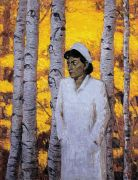 "<p>Wang Xingwei, <em isrender=""true"">untitled (nurse and trees)</em>, 2005, oil on canvas, 184 x 140 &nbsp;cm</p>"