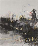 <p>Rebekka Steiger, <em>you just turned your back on the crowd</em>, 2018, oil, tempera and pastel on canvas, 240 x 200 cm</p>