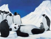 "<p>Wang Xingwei, <em isrender=""true"">untitled (death of panda)</em>, 2004, oil on canvas, 154 x 199 cm</p>"