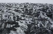 "<p isrender=""true"">Meng Huang,&nbsp;<em isrender=""true"">Himalaya 1</em>,&nbsp;2013, charcoal on canvas, 180 x 280 cm</p>"