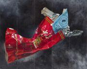 "<p>Meng Huang,&nbsp;<em isrender=""true"">Cigarette Box</em>,&nbsp;2011, oil on canvas, 5x 335 x 84 cm</p>"