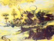 <p>Rebekka Steiger, <em>Sykomore</em>, 2017, oil and tempera on canvas, 180 x 240 cm</p>