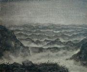 "<p>Meng Huang,&nbsp;<em isrender=""true"">Distant Mountain No. 1</em>,&nbsp;2008, oil on canvas, 38 x 46 cm</p>"
