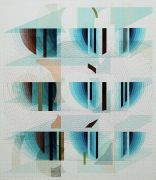<p>Tanya Goel, <em>Quadrant 6</em>, 2019, silk, crushed glass and acrylic pigments on<br /> canvas, 112 x&nbsp;96.5 cm</p>