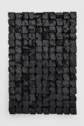 "<p>杨牧石,<em isrender=""true"">锐化 - 块</em>,2016&nbsp; (No.1),木料,黑色喷漆,150 x 100 x 16 cm</p>"