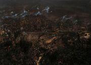 "<p>Meng Huang, <em isrender=""true"">Clouds</em>,&nbsp;2002, oil on canvas, 280 x 510 cm (6x 280 x 85 cm)</p>"