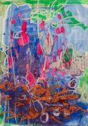 <p>Rebekka Steiger, <em>untitled</em>, 2019, oil, tempera, gouache and oil crayon on paper, 78 x 54 cm</p>